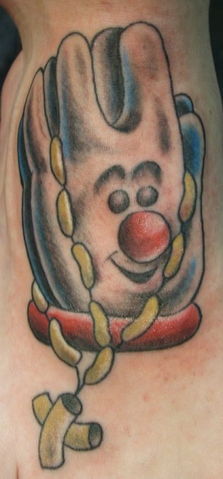 really horrible tattoos, pray tattos, praying hands of Hamburger Helper