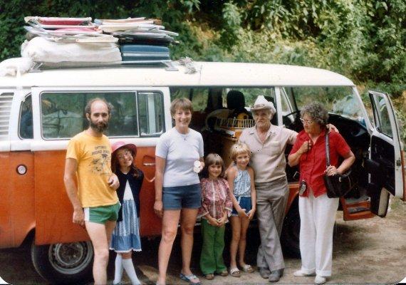horrible family photo, tent camping vacation