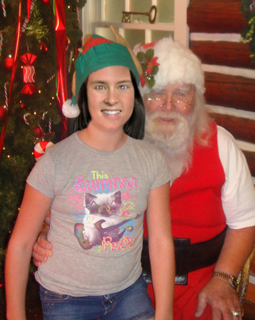 Home » Danica Ambrose » Danica Patrick Sitting On Santa's Lap, Funny ...