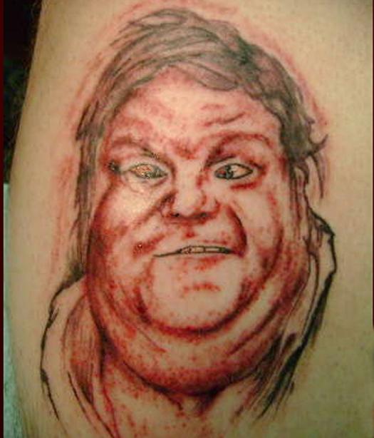 Chris Farley Bad Tattoos America's Worst Tattoos Regrettable Horrible Awkward Stupid People Regrets Misspelled Nasty Tats WTF Funny