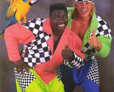 Vintage snapshot, me's 1980's fashion, parrot