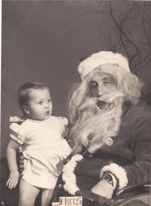 santa vintage funny