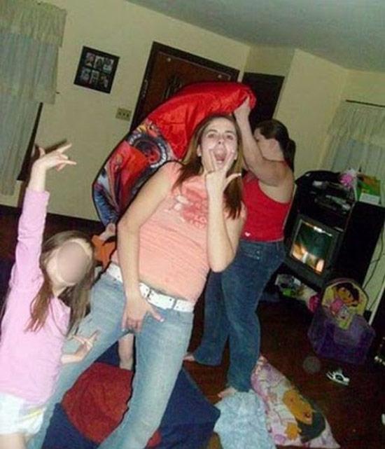 mom grabbing crotch fingers vagina mouth ~ Worst Parents Ever