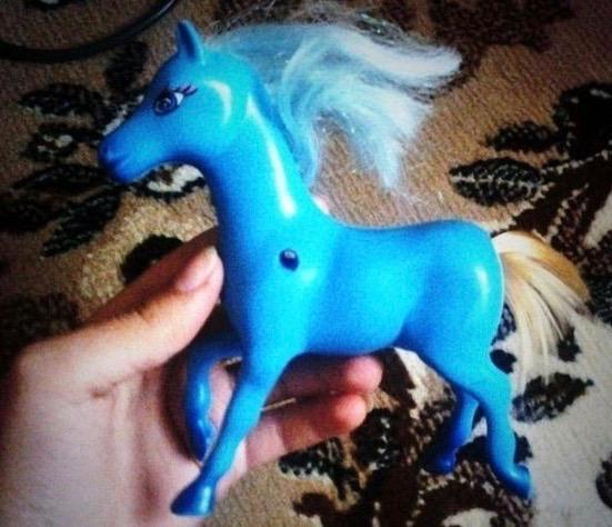Creepy Weird Kids Toys ~ My Pretty Pony Doll Head Tail
