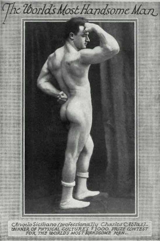 Vintage postcard, world's most handsome man