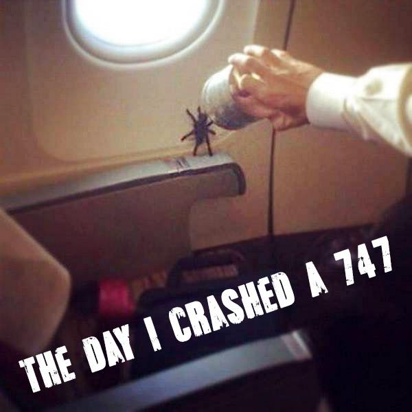 huge spider airplane meme day I crashed a 747